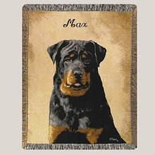 Personalized Dog Breed Tapestry Throw - Rottweiler