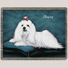 Personalized Dog Breed Tapestry Throw - Maltese