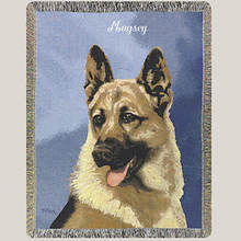 Personalized Dog Breed Tapestry Throw - German Shepherd