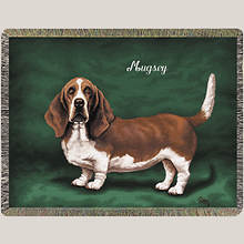 Personalized Dog Breed Tapestry Throw - Basset Hound