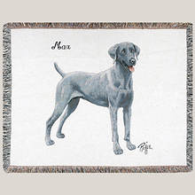 Personalized Dog Breed Tapestry Throw - Weimaraner