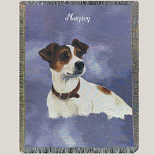 Personalized Dog Breed Tapestry Throw - Jack Russell
