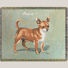 Personalized Dog Breed Tapestry Throw - Chihuahua