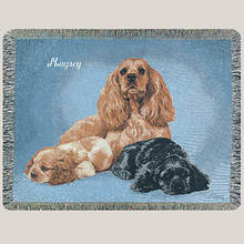 Personalized Dog Breed Tapestry Throw - Cocker Spaniel