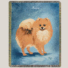 Personalized Dog Breed Tapestry Throw - Pomeranian