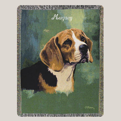 Personalized Dog Breed Tapestry Throw