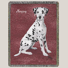 Personalized Dog Breed Tapestry Throw - Dalmation