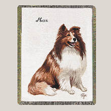 Personalized Dog Breed Tapestry Throw - Sheltie