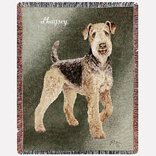 Personalized Dog Breed Tapestry Throw - Airedale