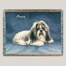 Personalized Dog Breed Tapestry Throw - Shis Tzu