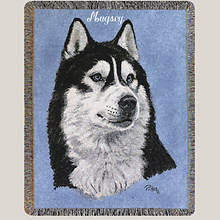 Personalized Dog Breed Tapestry Throw - Husky