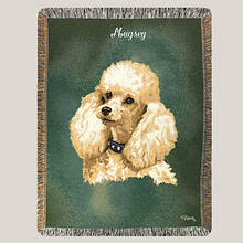 Personalized Dog Breed Tapestry Throw - Poodle