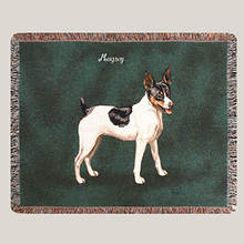 Personalized Dog Breed Tapestry Throw - Rat Terrier