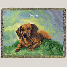 Personalized Dog Breed Tapestry Throw - Dachsund