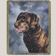 Personalized Dog Breed Tapestry Throw - Chocolate Lab