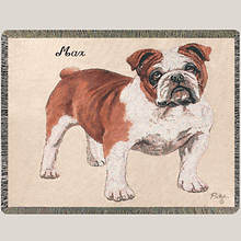 Personalized Dog Breed Tapestry Throw - Bulldog
