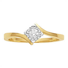 Diamond Halo Solitaire Ring
