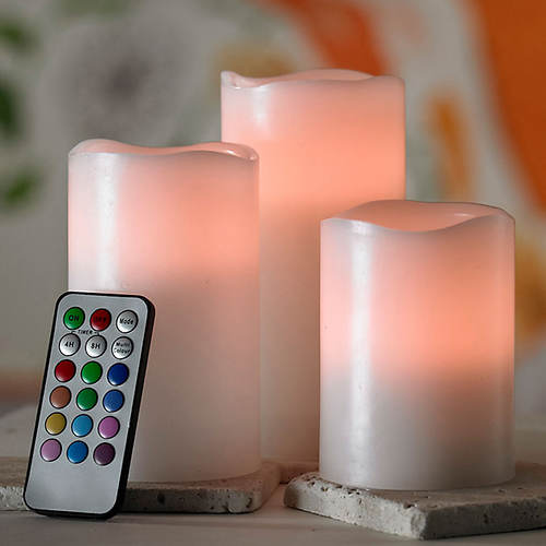 Color Changing Candle Trio