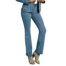 Rhinestone Spangled Boot Cut Jeans