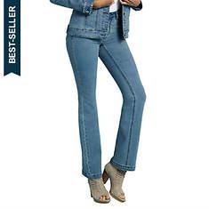 Rhinestone-Spangled Boot Cut Jeans