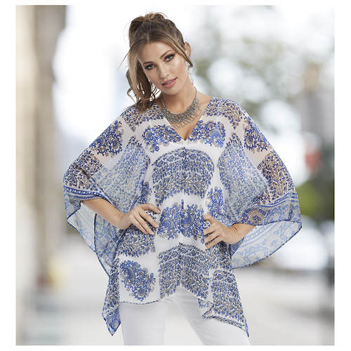 Paisley Butterfly Sleeve Tunic
