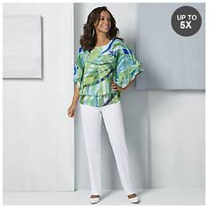 Printed Poncho Top & Pants