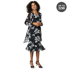 Printed Georgette Jacket Dress
