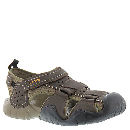 Crocs swiftwater leather fisherman men 39 s masseys for Crocs fishing shoes