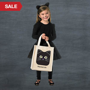 Personalized Halloween Goodie Bag- Cat