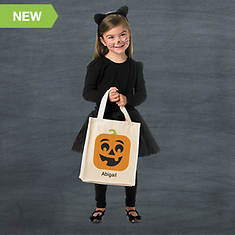 Personalized Halloween Goodie Bag- Pumpkin