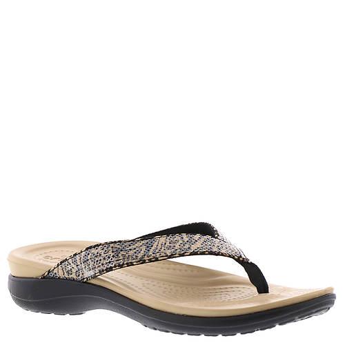 abf30d097 Crocs™ Capri V Graphic Sequin Flip (Women s) - Color Out of Stock ...