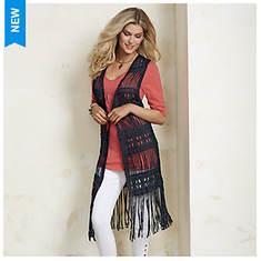 Crochet Fringe Vest