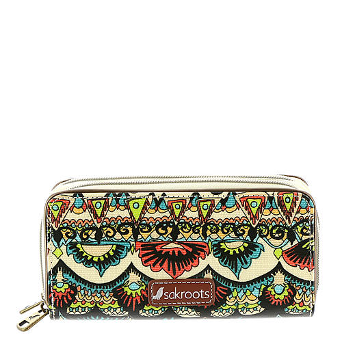 The Sakroots Artist Circle Double Zip Wallet