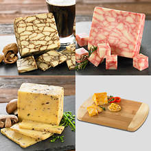 3 Artisan Cheeses with FREE Cutting Board