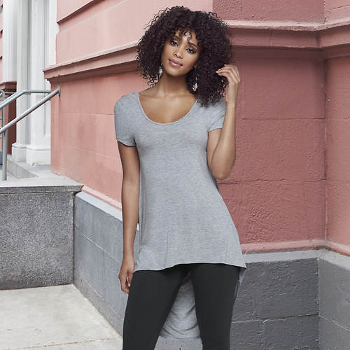 Draped Back Yoga Top
