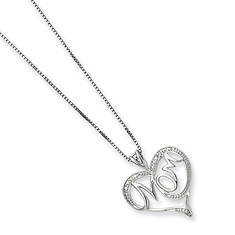 Sterling Silver Diamond Mom Necklace