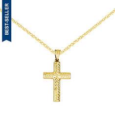14K Reversible Cross Pendant