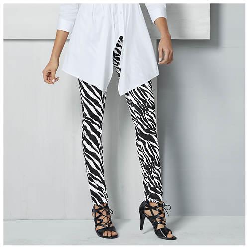 Zebra-Print Jeans