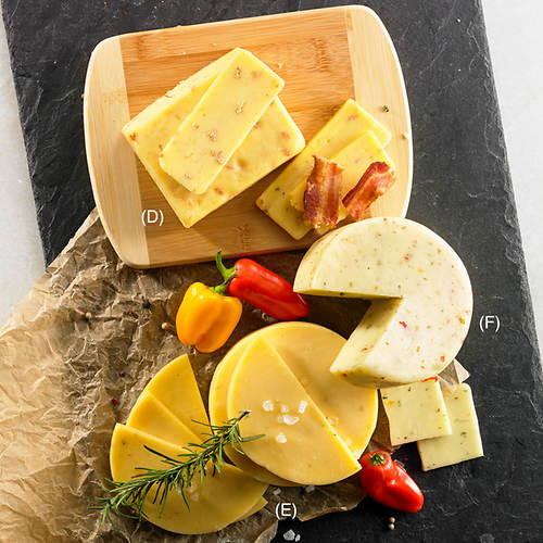 3 Specialty Cheeses with FREE Cutting Board