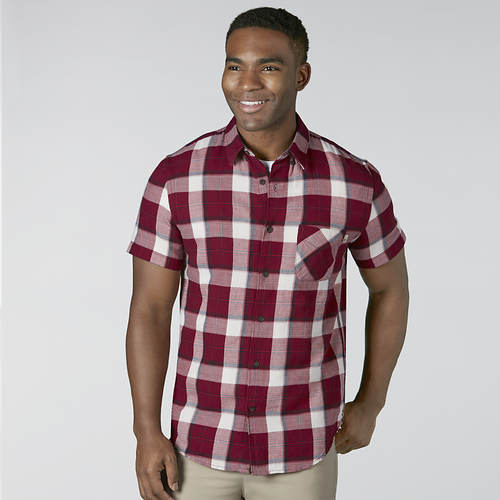 Timberland SS Sugar River Open Weave Plaid Shirt