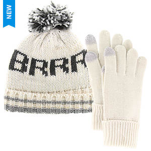 Steve Madden Women's Burr Cuff Hat/Gloves Gift Set