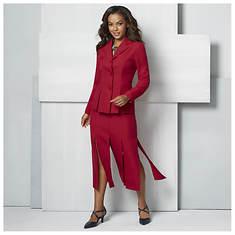 Paneled Skirt Suit