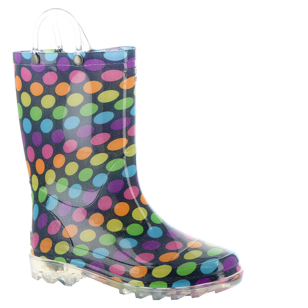 33f7a6218a87 Western Chief Darling Dot Lighted Girls  Toddler-Youth Boot