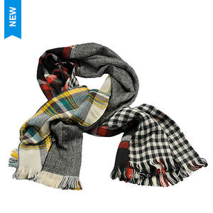 Steve Madden Women's Multi Facet Plaid Blanket Wrap
