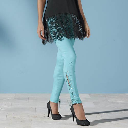 Side Lace-Up Jean
