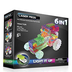 Laser Pegs 6-in-1 Tractor Lighted