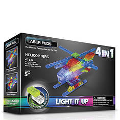 Laser Pegs 4-in-1 Helicopter Lighted