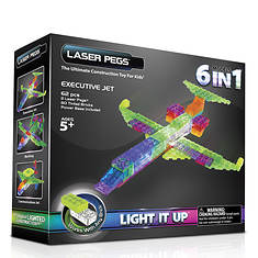Laser Pegs 6-in-1 Plane Lighted