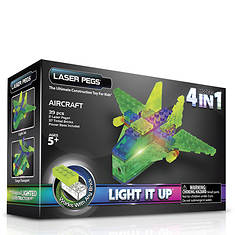 Laser Pegs 4-in-1 Aircraft Lighted