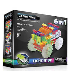Laser Pegs 6-in-1 Monster Truck Lighted